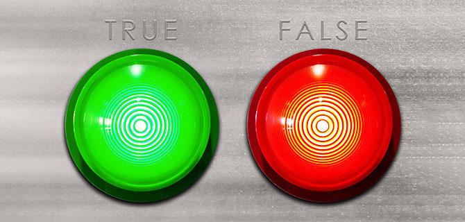 真実と虚偽のランプ