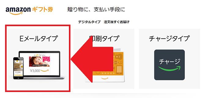 Amazonギフト券の購入方法①